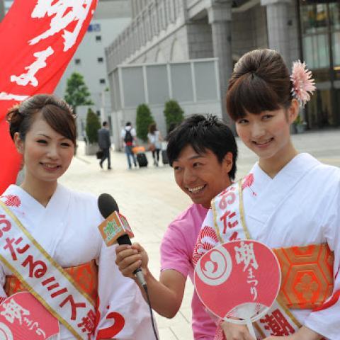 2011.7.26 第45回 おたる潮まつり 札幌駅前PR活動♪