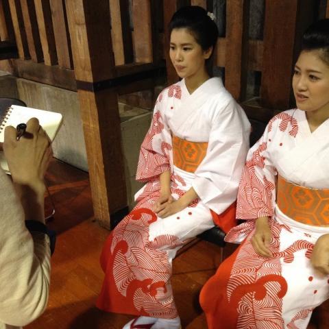 2015.7.6 踊りお稽古会 扇玉先生、ミス小樽